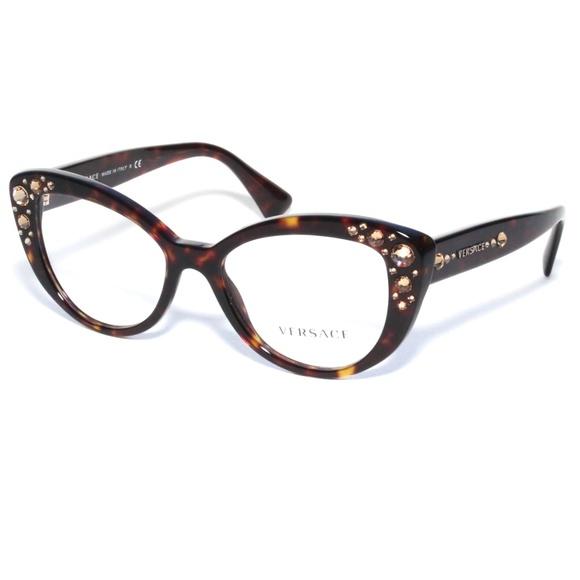 Versace Accessories   Eyeglasses 3221b 108 5217 140 Brown Tort ...